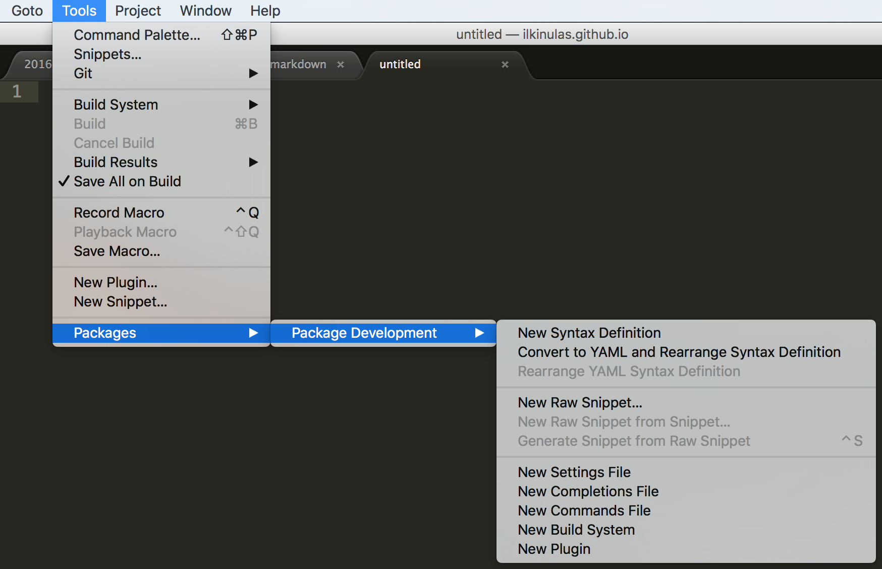 How To Make a Custom Syntax Highlighting for Sublime Text